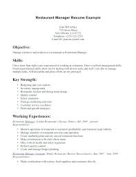 restaurant resume template restaurant resume template sle of objectives in for hotel and