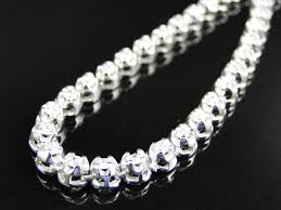 chain necklace diamond images Mens prong set 1 row genuine diamond chain necklace in 14k white jpg