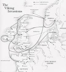 How Did The Treaty Change The World Map by Map Showing The Principal Routes Of Viking Invasion Of England And