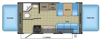 Rear Kitchen Rv Floor Plans 2017 Jay Feather Travel Trailer Floorplans U0026 Prices Jayco Inc