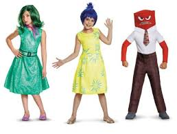 inside out costumes 5 emotions from inside out costumes