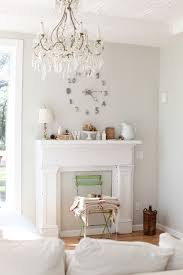 Shabby Chic Pendant Lighting by Wall Clock Large Living Room Shabby Chic Style With Pendant