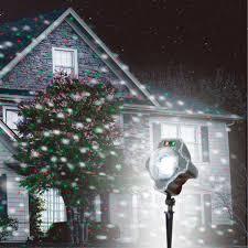 remote led white green laser snowfall light