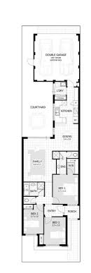 narrow home floor plans ardross single storey narrow home design floor plan