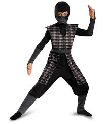 April Neil Halloween Costume Evil Ninja Black Kids Costume Boys Ninja Costume