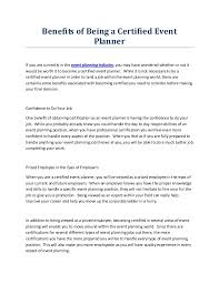 becoming a party planner benefits of being a certified event planner