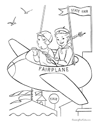 airplane coloring book pages 001