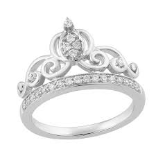 cinderella engagement ring enchanted disney s cinderella sterling silver diamond tiara ring