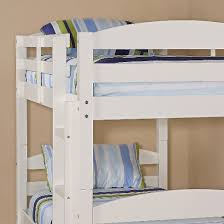Solid Wood Twin Over Twin Bunk Bed White Saracina Home  Target - Solid wood bunk bed