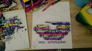why buy when you can diy crayon monogram
