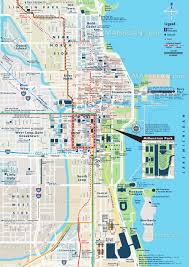 Blue Line Chicago Map by Chicago Map Street U0026 Road Names Plan With Central Most Popular