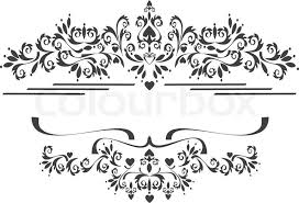 black ornamental border frame on a white background graphic