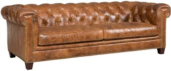 Rustic Leather Sofas Distressed Leather Sofa Roselawnlutheran