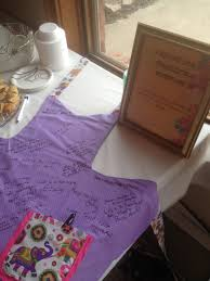 Customized Aprons For Women Bridal Shower Guestbook Apron Make Buy An Apron For All The Women