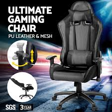 Ultimate Computer Chair New Executive Gaming Office Chair Racing Computer Pu Leather Mesh