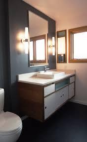 Mid Century Modern Vanity Bathroom Remodel Brings A Twist On Mid Century To Dolph Park Home