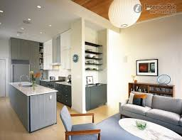 Open Kitchen Designs In Small Apartments Inspiring Well Small - Small apartment kitchen design