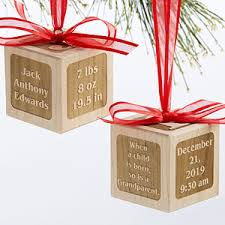 personalized baby block ornament personalized baby wood block ornament a grandparent is born