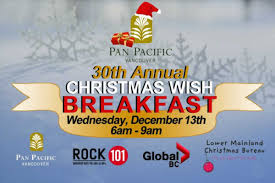 vancouver convention bureau join us for the 30th annual wish breakfast pan pacific