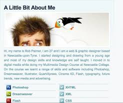 20 creative example of blog bio pages