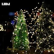 wire christmas tree with lights amazon com 10 pack led string lights led moon lights 20 led