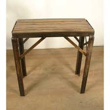 small occasional table vintage industrial decor