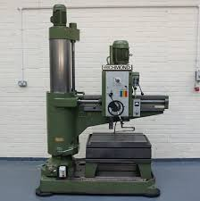 a richmond envoy radial arm drill 48in radius spindle taper 4