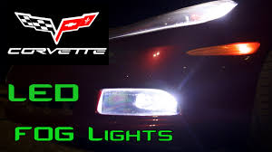 Led Fog Light C6 Corvette Led Fog Light Install Youtube