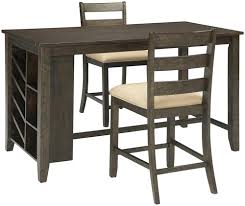 counter table with storage signature design by ashley rokane 3 piece rectangular counter table