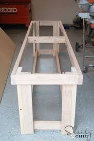 Free Simple Wood Workbench Plans by Simple Workbench Plans 2 4 Free Download L Shaped Patio Bar Plans