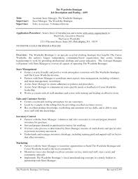 retail assistant manager resume sample u2013 topshoppingnetwork com