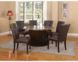acme danville round marble top dining table in black 2017 and set