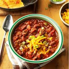 slow cooked chili recipe taste of home