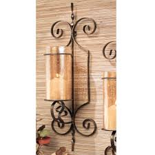 home essentials beyond candle holders candles home bristol gold wall sconces set of 2