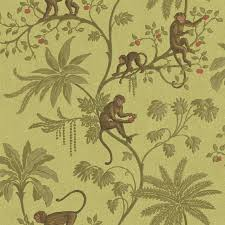 monkey wallpaper for walls cr061671 jungle of monkeys wallpaper discount wallcovering