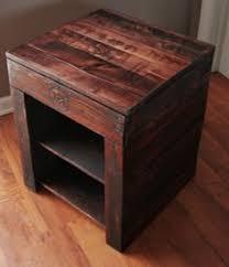 pallet nightstand nightstands pallets and diy ideas