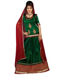 rajputi dress rajputi poshak green silk dress material set of 3 buy rajputi