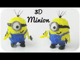 25 best 3doodler creation ideas 3d minion 3d pen creation myriwell advanced youtube