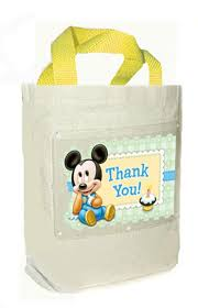 mickey mouse favor bags mickey mouse 1st birthday party favor bag canvas fabric cloth tote