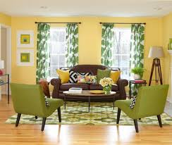 Green Livingroom Curtains Magnificent Mesmerize Sensational Commendable Yellow