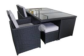 Black Wicker Patio Furniture - outdoor dining set 13 piece high back rattan wicker table chairs
