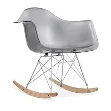 transparent black eames style rar rocker chair rocking chair