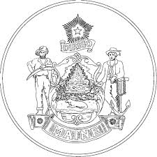 Alaska State Flag Coloring Page Maine State Flag Coloring Pages