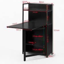 table pliante bureau sobuy home office 4 tiers bookcase storage shelves with folding