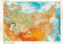 Physical Europe Map by Large Detailed Physical Map Of Russia In Russian Russia Europe