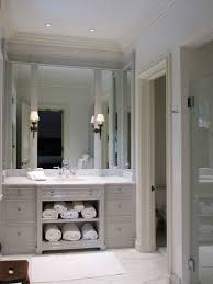 light gray vanity transitional bathroom litchfield designs