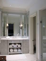 light gray vanity transitional bathroom litchfield designs