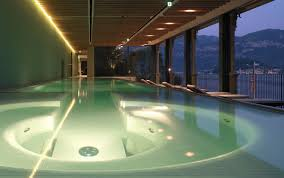 hotel spa and wellness center with pool at lake como in bellagio