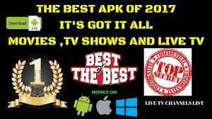 tv shows apk the best apk of 2017 it s got it all tv shows and live tv