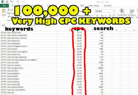 adsense cpc 100 000 more highest cpc adsense keywords list for 5 seoclerks